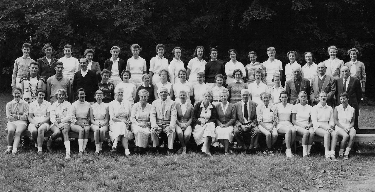 Ecole Champlain (all girls) Summercamp in Burlington, VT, August 1952